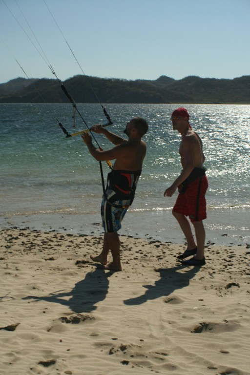 Costa Rica Kiteboarading and kitesurfing lessons on one of the worlds greatest wind spots Bahia Salinas Guanacaste professional instructor.jpg - big