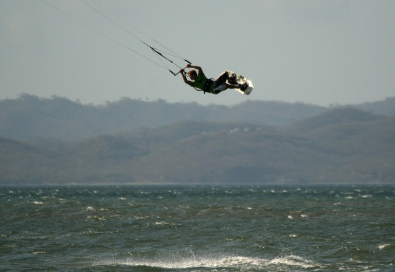 Kite surfing and kiteboarding instructor damien of the costa rica kite house in famous bahia salinas wind mecca.jpg - big